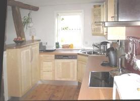Massivholz-Küche